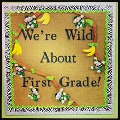 We're Wild About First Grade! Jungle-Themed Classroom @Ashley Walters McNeese  rookieteacherchronicles.blogspot.com