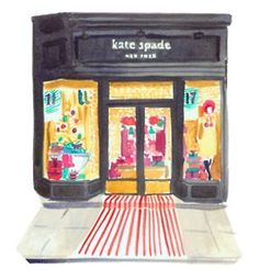 Kate Spade.  USA handbag maker who expanded to clothing, shoes, jewelry and accessories.  Now owned by Liz Claiborne. Furrylittlegnome likes the staff at Boston store.