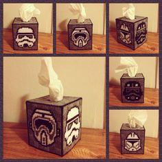 Star Wars Stormtrooper Tissue Box by K8BitHero on Etsy, $28.00