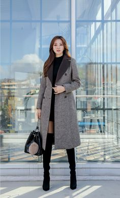 Korean Women`s Fashion Shopping Mall, Styleonme. Korean Winter Outfits, Korean Fashion Winter, Korean Girl Fashion, Korean Street Fashion, Ulzzang Fashion, Korea Fashion, Korean Outfits, Mode Outfits, Asian Fashion