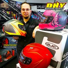 Just In! 2015 #HJC #helmets have arrived at #DHYMotorsports Check in with #TommyBoom for an awesome fit and deal.