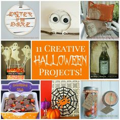 ~ 11 Creative DIY Halloween Projects ~ enjoy this pin and more @ https://www.pinterest.com/PinsByBecky/
