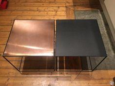 Twin Table by Lassen, koppar/svart, 2st | Stockholm