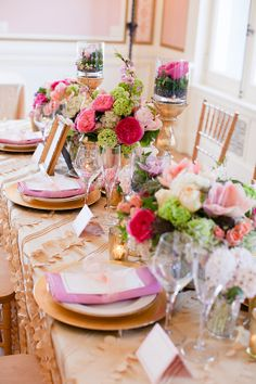 Pink Gold Green Tabletop | photography by http://www.ashleybartoletti.com