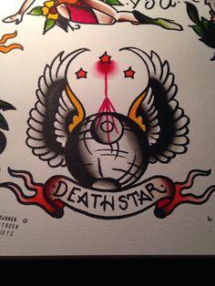 Death Star #starwars #traditionaltattoo