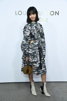 Doona Bae attends the Opening Of The Louis Vuitton Boutique as part of the Paris Fashion Week Womenswear Spring/Summer 2018 on October 2, 2017 in Paris, France.