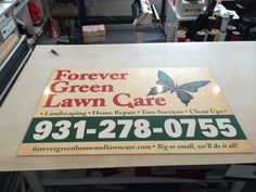 Sign layout/production