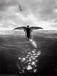 Born from the water and summoned by  the sky, he never truly felt at home with the earth beneath his feet.  Jerry Uelsmann
