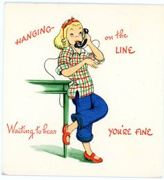 VINTAGE UNUSED GREETING CARD MISS YOU/ HOPE YOUR WELL