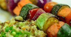 Espetinhos de Legumes na Frigideira (vegana)