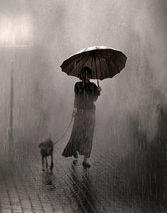 *Dog walk. Saul Leiter