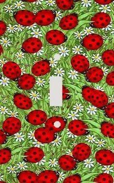 Ladybug Kitchen Decor Ladybug Decorations Ladybug Switch Plate Cover