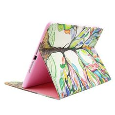 For+iPad+Air/iPad+5+Tree+Smart+Cover+Leather+case+with+Holder,+Card+Slots+&+Wallet