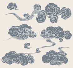 A Set Of Grunge Cloud Graphics In Oriental Style In - A Set Of Grunge Cloud Graphics In Oriental Style April Grunge Oriental Cloud Royalty Free Grunge Oriental Cloud Stock Vector Art More Images Of Arts Culture And Entertainment Flor Oriental Tattoo, Oriental Tattoos, Cloud Pattern, Vexx Art, Hanya Tattoo, Oriental Fashion, Oriental Style, Art Asiatique, Geniale Tattoos