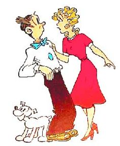 "Dagwood Bumstead & Blondie Boopadoop~My father would read the ""funnies"" to me every Sunday as I sat on his lap :)"