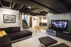 A very impressive #basement #renovation by Ryan Duebber Architect, LLC - #modern #contemporary #vintage #mid #century #midcentury #retro #finished
