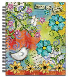 Color My World  Spiral Bound Sketchbook  Item #: 4006000  Artwork by: Lisa Kaus