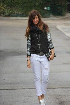 paillettes sweat shirt from vila - mytenida
