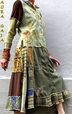 Serena~ Poorgirl Boho Tattered Upcycled Tunic Dress S-M AuraGaia #AuraGaia #PoorgirlBoHoBoHoDressTunicDress #AnyOccasion