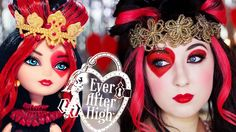 Lizzie Hearts (Ever After High) Makeup Tutorial, at first I thought it was weird, but it's kinda cool:)