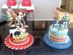Toy Story Cake Decorating Ideas - Toys for years old happy toys Woody Y Jessy, Woody Y Buzz, Woody Party, Toy Story Birthday Cake, Woody Birthday, Twin Birthday, Cake Birthday, Birthday Ideas, Toy Story Theme