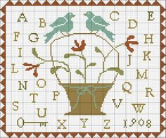 With thy Needle & Thread: Free Cross Stitch Pattern!