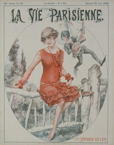 La Vie Parisienne - La Sérénade de l'Eté - June 1928 – Rue Marcellin Vintage French Posters and Prints