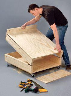 g stebett selber bauen m bel holz pinterest. Black Bedroom Furniture Sets. Home Design Ideas