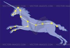 Constellation Monoceros - vector clipart