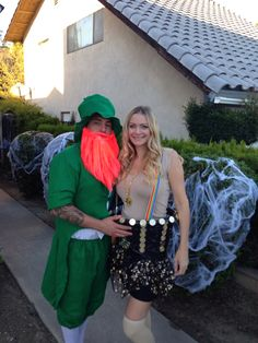 Halloween Couple Costume. Leprechaun and Pot of Gold!!! Homemade costumes!