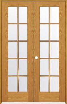 "Mastercraft® 48"" x 80"" Oak 10-Woodlite Prehung Interior Double Door - Right Inswing $476"