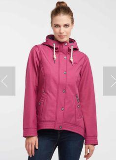 Schmuddelwedda Anorak in dunkelpink Softshell, Hooded Jacket, Pink, Athletic, Jackets, Fashion, Rain Jacket, Jacket With Hoodie, Down Jackets
