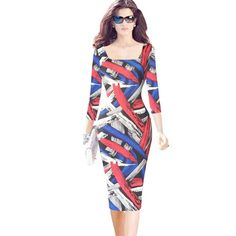 Women Square Collar Plus Size Sheath Dress