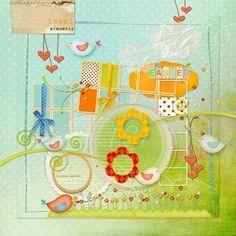 Tweet Digital Scrapbook Kit. $7.95, via Etsy.