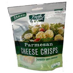 Fresh Gourmet Parmesan Cheese Crisps-Case of 9 (nine) 1.76 oz Packages
