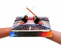Star Wars Lightsaber Thumb Wrestling. Strap on a Velcro lightsaber to your thumb and battle across the galaxy in multiple thumb wrestling arenas.