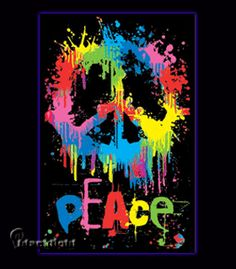 Peace Sign 09 Blacklight Poster
