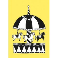 Karusell yellow Merry Go Round, Frame It, Childrens Party, Card Sizes, Superhero Logos, Color Patterns, Birthday Gifts, Kids Room, Colours
