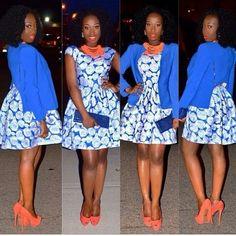 .african print dress
