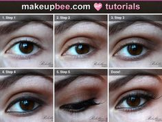 Step-By-Step #Tutorial for Brown Smokey Eye
