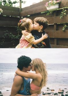 #Young #Cute #Couple #Love #Toddler #Children #Teen #Older #Past #Present #Adorable #Kiss