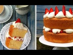 Light Fluffy Moist Sponge Cake Recipe this cake has it all, after much research I finally made a sponge cake recipe that I was happy to bake again and again. Perfect Sponge Cake Recipe, Sponge Cake Recipes, Cupcake Recipes, Dessert Recipes, Bread Recipes, Baking Recipes, Strawberry Cake From Scratch, Vanilla Cake From Scratch, Homemade Vanilla Cake