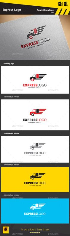 Express  - Logo Design Template Vector #logotype Download it here: http://graphicriver.net/item/express-logo/9253891?s_rank=322?ref=nesto