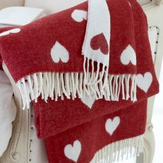 Heart throw - I have a really similar one from old school ikea :)