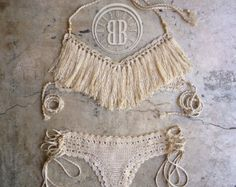 Marea alta bikini bikini de ganchillo personalizados por beijobaby