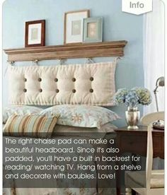 Chaise pad headboard ♡