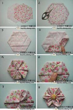 DIY Flower Projects – There is nothing quite like fresh flower arrangements for the house decoration. Read MoreBest DIY Flower Projects with Simple Tools and Materials Quilting Tips, Quilting Tutorials, Quilting Projects, Sewing Projects, Hexagon Quilting, Hexagon Patchwork, Quilting Fabric, Sewing Tips, Origami Quilt