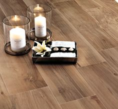 Print - Plank tile - Ann Sacks Tile & StonePlank is designed to look and feel like natural wood flooring, yet is made of highly durable porcelain, thus allowing for a beautiful maintenance-free installation.  AS14194