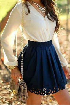 Pinterest  #skirt #blue #lace #summer