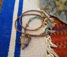 Wire Wrapped Boulder Opal Copper  Fresh Water by PLANETDIGS2, $62.00